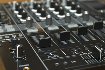 professional audio mixing studio equipment buttons