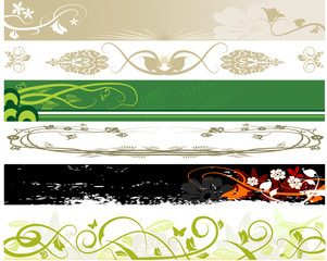 Floral website banners. Floral ornament for background.