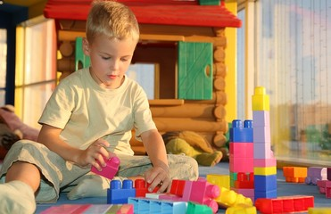 Boy in playroom