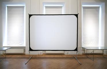 white screen in room