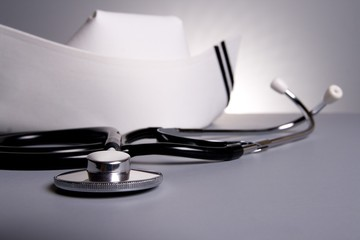 Nursing cup with stethoscope