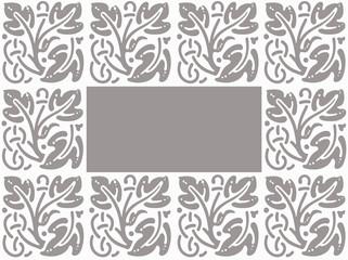 cadre gris et blanc