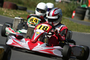 Papiers peints Motorise Kart Race Closeup