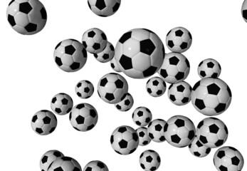 It's raining Soccer Foot Balls
