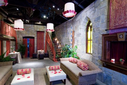 castle theme interior of lounge