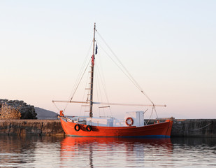 Red Boat in Paros