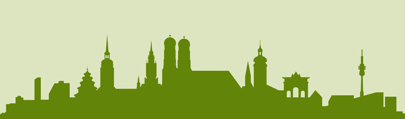 Deurstickers München - Skyline 04