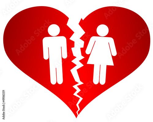 Couple dans un coeur bris fichier vectoriel libre de for Briser un miroir signification
