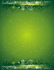 green grunge christmas background, vector illustration