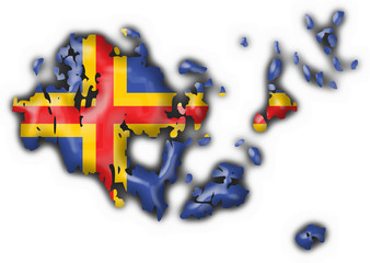 Aland aaland button flag map shape