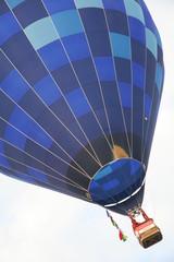 Blue balloon in diagonal