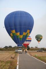 Blue balloon before start
