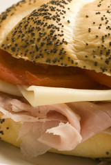 Fototapete - HAM AND SWISS SANDWICH