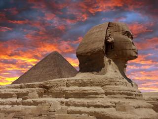 Pyramid and Sphinx at Giza, Cairo