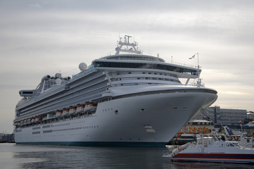 passenger ocean liner in Vladivostok port