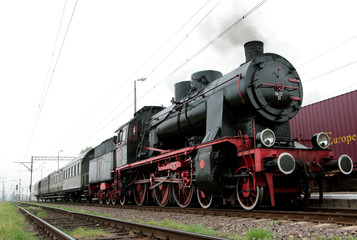 Retro steam train - Poland, Wolsztyn