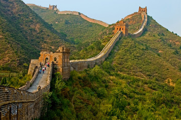Photo sur Aluminium Muraille de Chine Bold walk