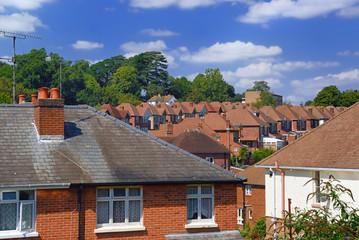 English Red Brick Suburb