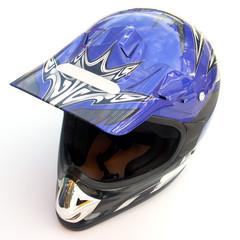 Papier Peint - casque intégral bleu