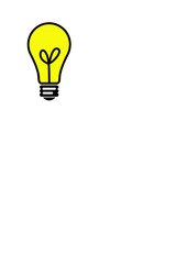 yellow bulb ilustration