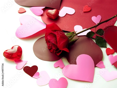 Love symbols and red rose stock photo and royalty free images on pic 4977736 - Image saint valentin romantique ...