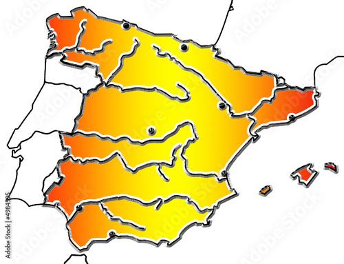 Carte Espagne Telecharger.Carte D Espagne Photo Libre De Droits Sur La Banque D Images