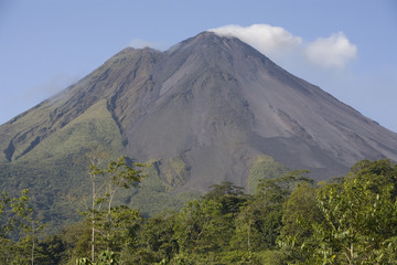 Arenal Volcano in Clear Sky