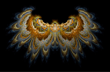 a highly detailed render of two beautiful thick wings