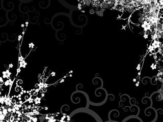 Fiori e fantasia nero