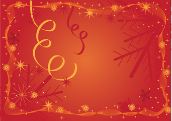 red christmas background frame