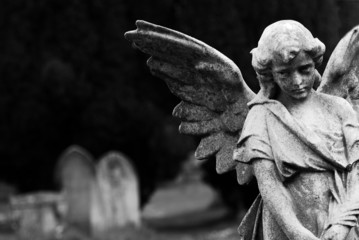 Türaufkleber Friedhof Angel
