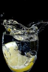 Poster de jardin Eclaboussures d eau splash lemon