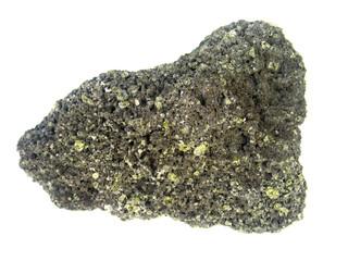 des cristaux à profusion : olivine et quartz