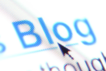 The word 'blog' as a hyperlink