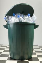 Filled wastebasket