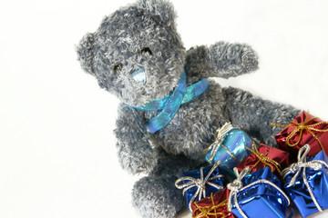 photo ours en peluche et cadeaux