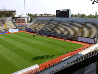 Photo sur Aluminium Stade de football Empty soccer stadium 5