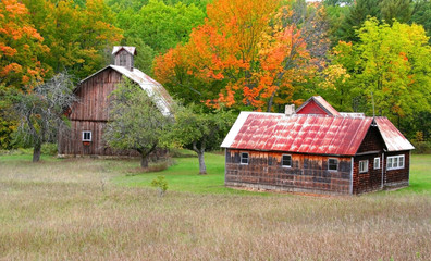 Barn And Old House