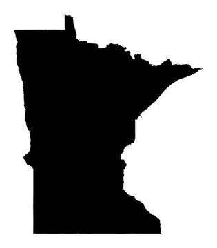 map of Minnesota, USA