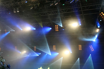Stage lights. On the show