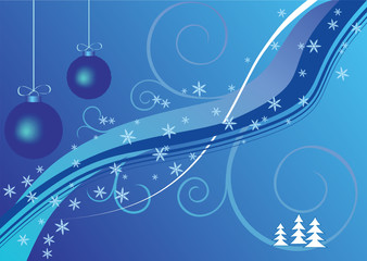 christmas bacground vector blue