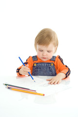 pretty baby draw color pencil