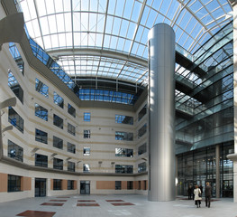 Entrance hall of office building