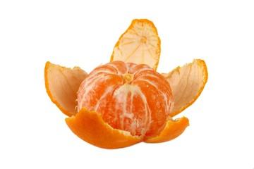 Mandarine isolated on white