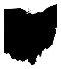 map of Ohio, USA