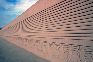 Remaining wall of Chan Chan in Peru