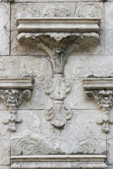 Vintage, Old-time Wall with Bas-relief