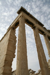 Ruins of a temple in Acropolis, Athens