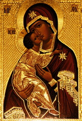 An orthodox icon of Mary, Vladimirskaya