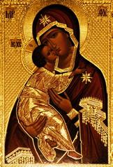 An orthodox icon of Mary, Vladimirskaya